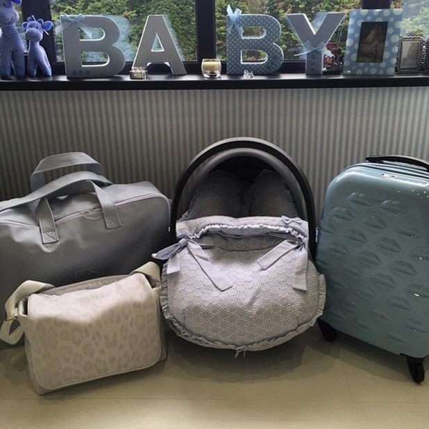 Billi Mucklow gets her bags ready for hospital ahead of due date, 26 May 2015