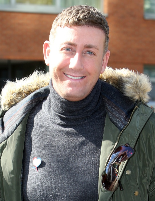Christopher Maloney outside the ITV Studios 27 May 2015