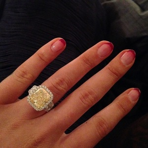 Iggy Azalea and Nick Young engaged: Iggy's engagement ring, Instagram 2 June