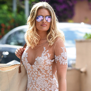TOWIE's Danielle Armstrong strolling through Marbella 5th May 2015