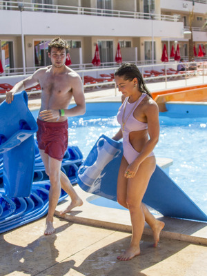 Louise Thompson and Sam Thompson at launch of BH Mallorca's Island Beach Club, 30th May 2015