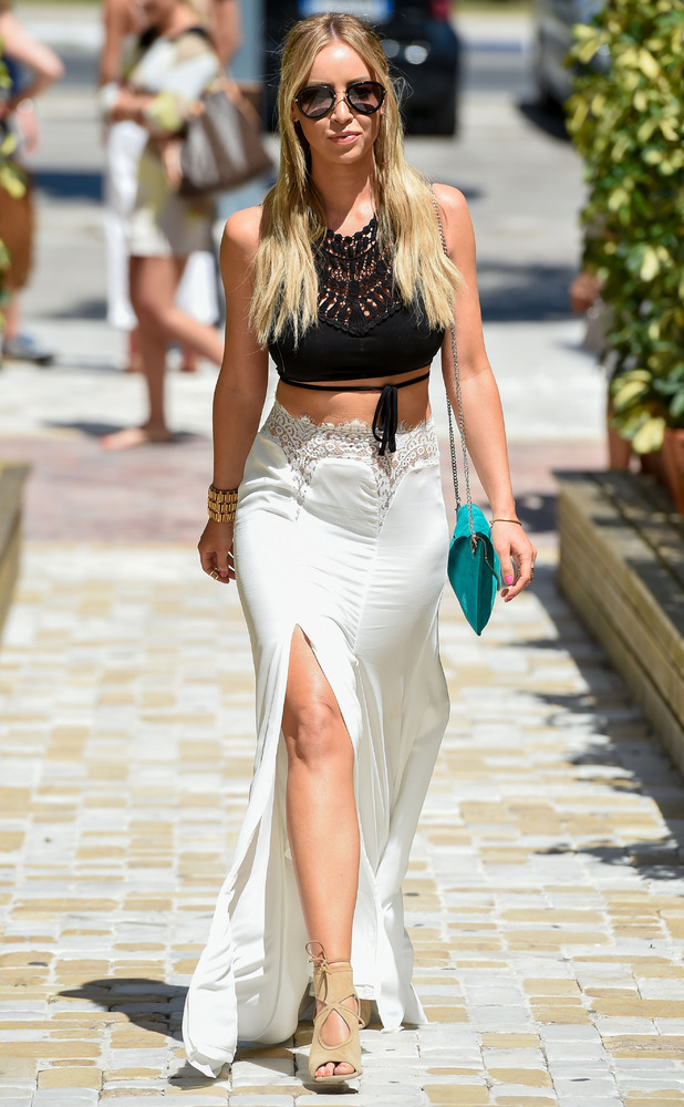 TOWIE's Lauren Pope in monochrome outfit in Marbella/Marbs 5th June 2015