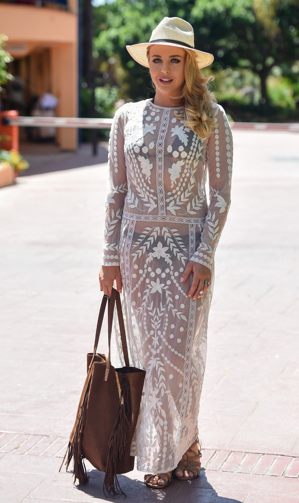 Lydia Bright leaves her hotel in Marbella whilst filming TOWIE, 3rd June 2015