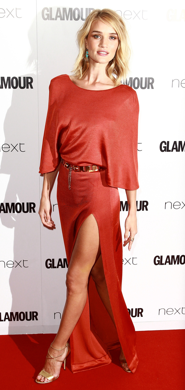 Model Rosie Huntington-Whiteley at the Glamour Women of The Year Awards 2015, 3rd June 2015