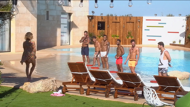 Caroline Flack and the Love Island hunks, 7 June 2015