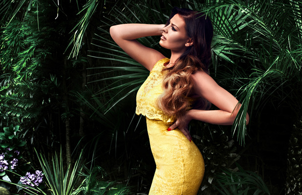 Jess Wright TOWIE Lipstick Boutique pictures, Yellow dress 2nd June 2015