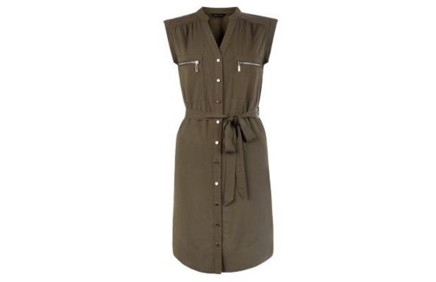New Look khaki shirt dress £19.99, 3rd June 2015