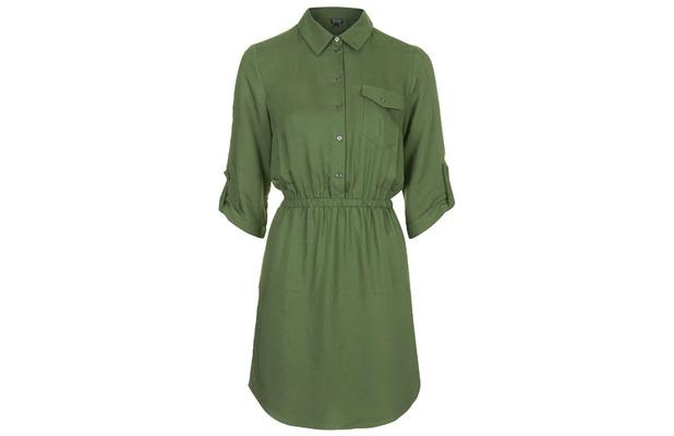 Topshop shirt dress, Khaki, 3rd June 2015