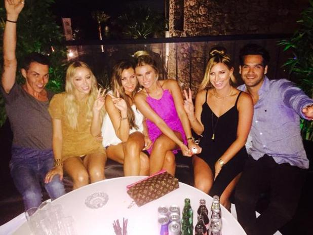 TOWIE's Gemma Collins enjoys night out with new love interest Seb and her co-stars in Marbella - 3 June 2015.