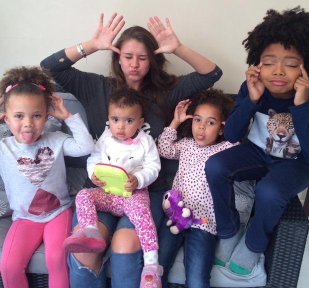 Brooke Vincent blog: Brooke with her godchildren 3 June