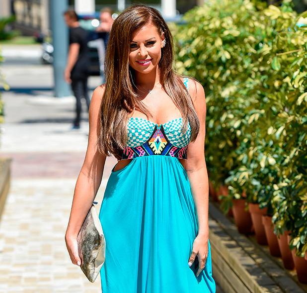 Jess Wright, TOWIE stars film at Cavalli club in Marbella, 4 June 2015