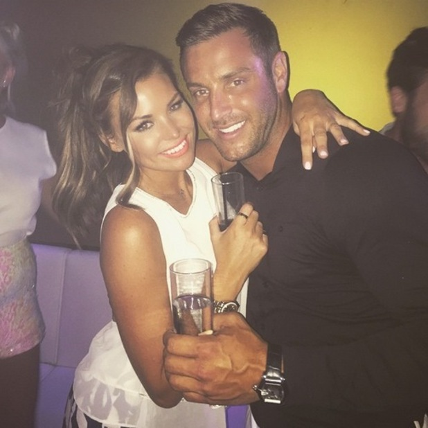 Jessica Wright and cousin Elliott Wright out in Marbella, Spain 3 June
