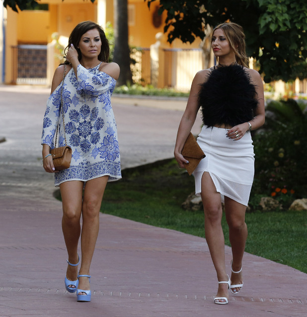 Jessica Wright and Ferne McCann, Marbella 31 May