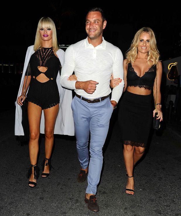TOWIE's Chloe Sims, Elliott Wright and Danielle Armstrong in Marbella - 1 June.