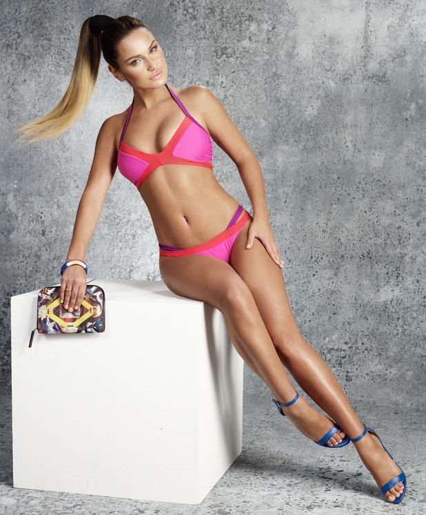 Sam Faiers launches bikini line with Very.co.uk, 2nd June 2015, pink bikini