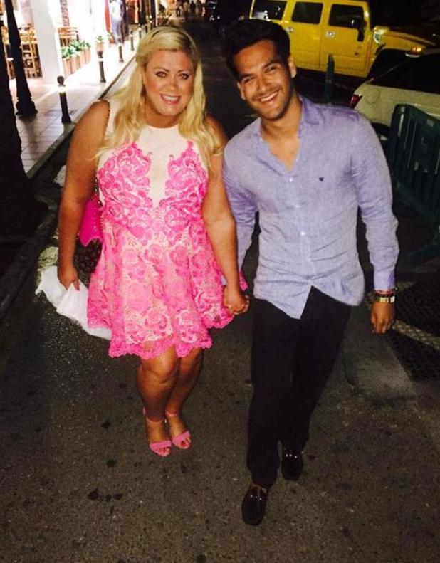 TOWIE's Gemma Collins enjoys night out with new love interest Seb in Marbella - 3 June 2015.