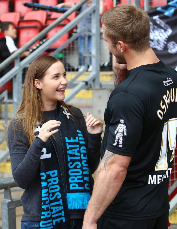 Jaqueline Jossa and Dan Osborne - Errols Game for Prostrate Cancer, Men United v Orient Legends at Matchroom Stadium, London 05/31/2015 London, United Kingdom