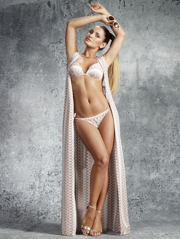 Sam Faiers launches bikini line with Very.co.uk, 2nd June 2015, crochet bikini