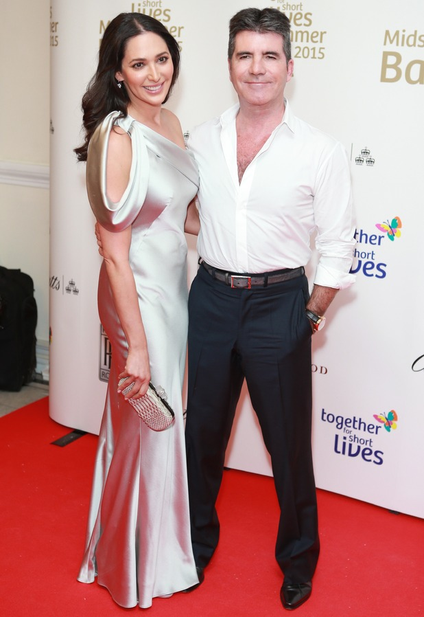 Simon Cowell and Lauren Silverman, Together For Short Lives charity ball, London 3 June