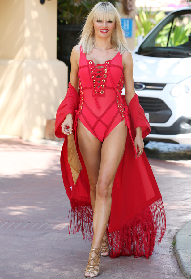 Chloe Sims TOWIE in Marbella, filming The Only Way Is Marbs, 1st June 2015