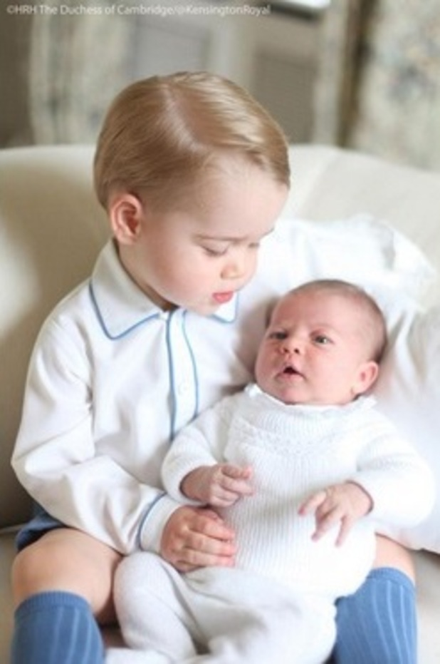 Prince George and Princess Charlotte, 2015