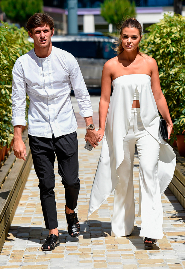 Chloe Lewis and Jake Hall, TOWIE stars film at Cavalli club in Marbella, 4 June 2015