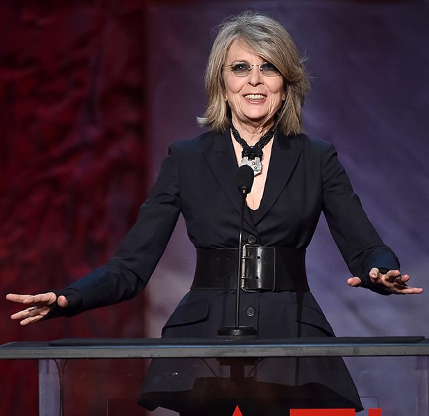 Diane Keaton speaks onstage during the 2015 AFI Life Achievement Award Gala Tribute Honoring Steve Martin at the Dolby Theatre on June 4, 2015 in Hollywood, California.