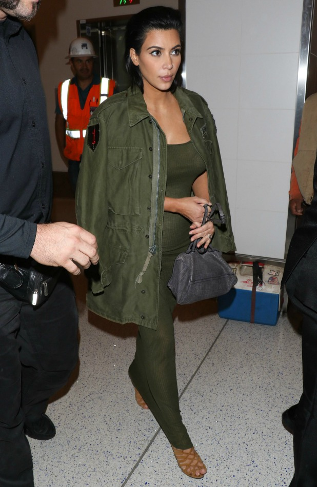 Kim Kardashian is seen arriving at LAX on June 02, 2015 in Los Angeles, California.