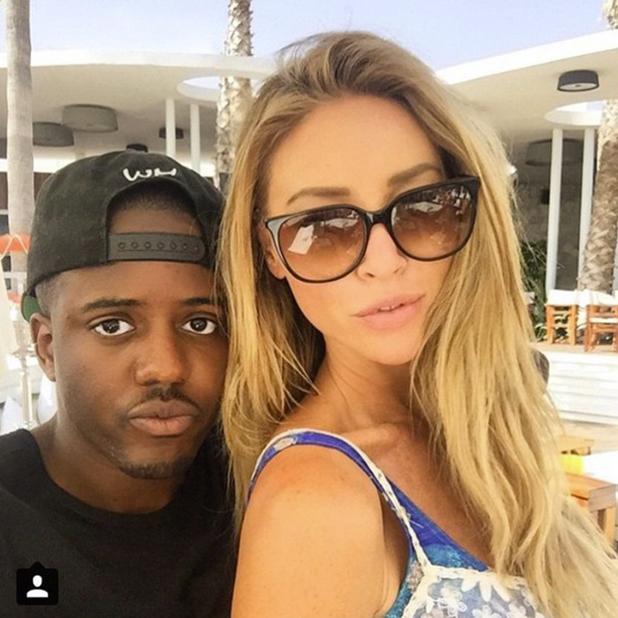 Vas J Morgan poses with Lauren Pope in Marbella, June 2015