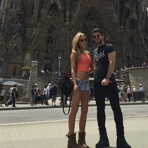 Alex Mytton and Nicola Hughes in Barcelona, Instagram 8 June