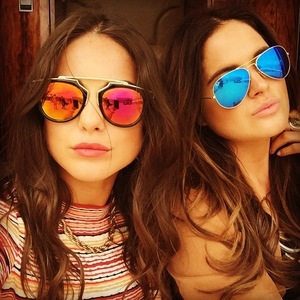 Louise Thompson and Binky Felstead in LA, 10 June