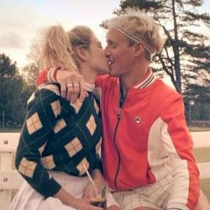 Made In Chelsea: Jamie Laing kisses Jess Woodley during group tennis match  - 8 June 2015.
