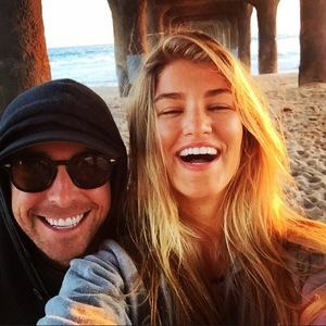 Amy Willerton shares beach snap with Rob Gough, 3rd June 2015