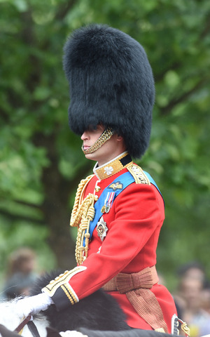 Prince William takes part in Trooping the Colour at Horse Guards Parade, 13 June 2015