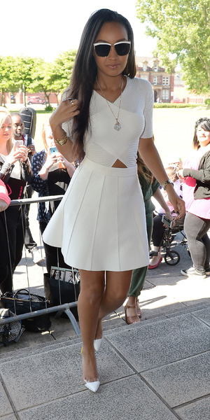Leigh-Anne Pinnock at Radio Aire in Leeds 11 June