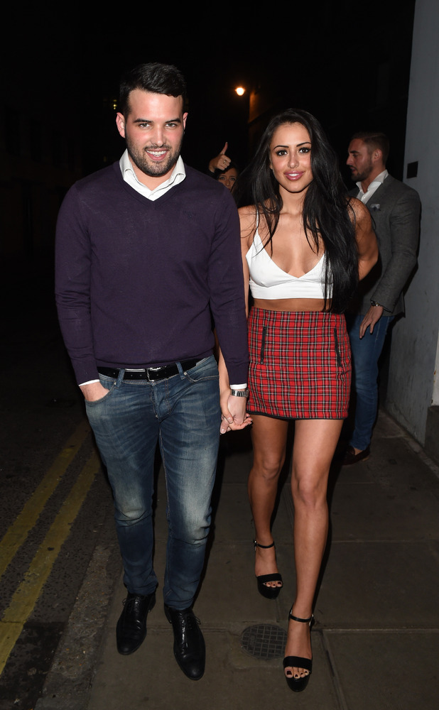 Ricky Rayment and Marnie Simpson enjoy a night out at Cafe De Paris 08/02/15