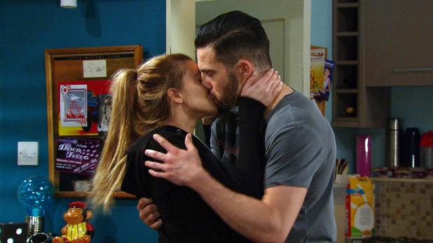 Emmerdale, Debbie kisses Ross, Wed 10 Jun