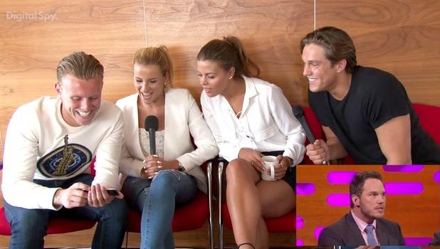 Chloe Lewis, Tommy Mallet, Georgia Kousoulou, Lewis Bloor, watch Chris Pratt's TOWIE impression, June 2015