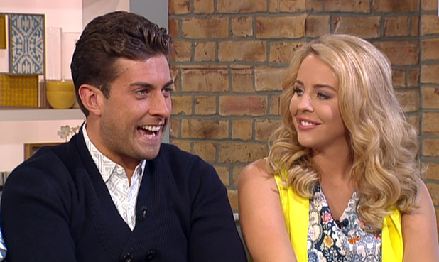 TOWIE's James 'Arg' Argent and Lydia Bright on ITV's This Morning - 12 June 2015.