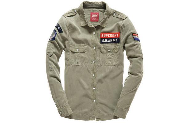 Superdry Khaki military shirt £44.99 12th June 2015