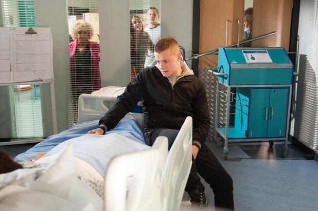 Hollyoaks, Robbie locks himself in with Phoebe, Mon 15 Jun
