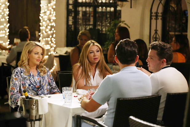 Fran Parman, Lydia Bright, James Arg Argent, James Diags Bennewith dinner in Marbella 7 June