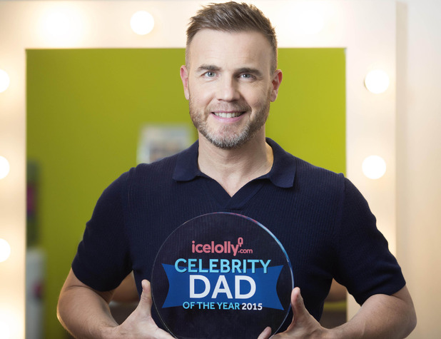 Gary Barlow beats David Beckham & Peter Andre for Celebrity Dad of the Year award - 12 June 2015.