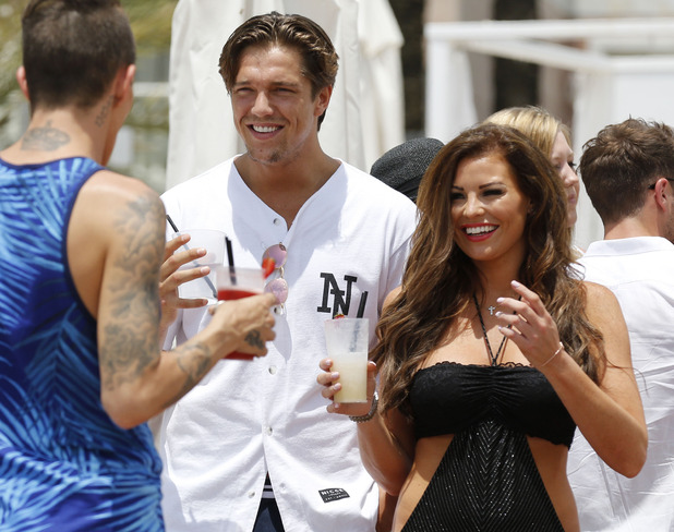 Lewis Bloor and Jessica Wright in Marbella, Spain 8 June