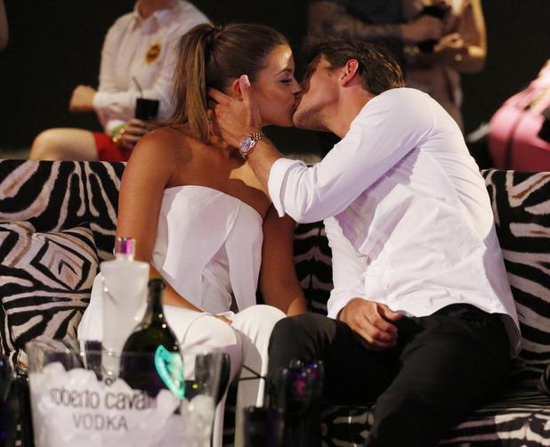 Jake Hall and Chloe Lewis kiss in Marbella 4 June