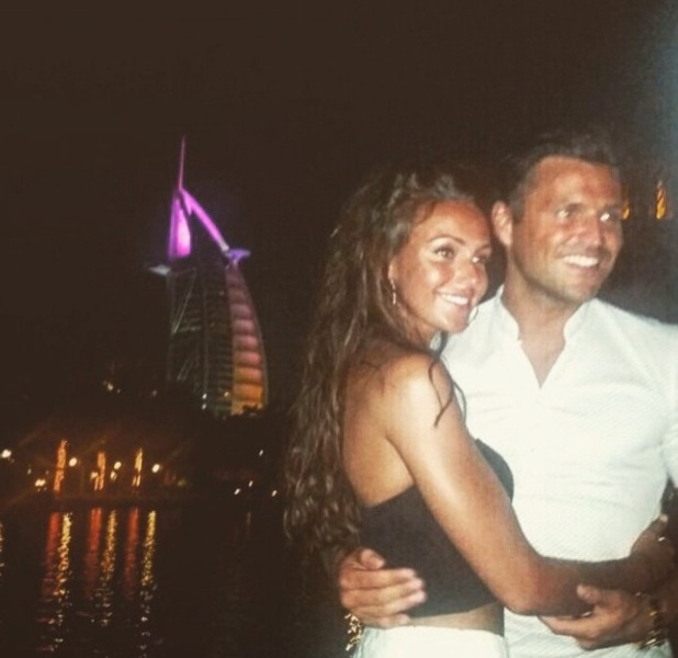 Mark Wright and Michelle Keegan upload picture of their last night in Dubai to Instagram 9th June 2015