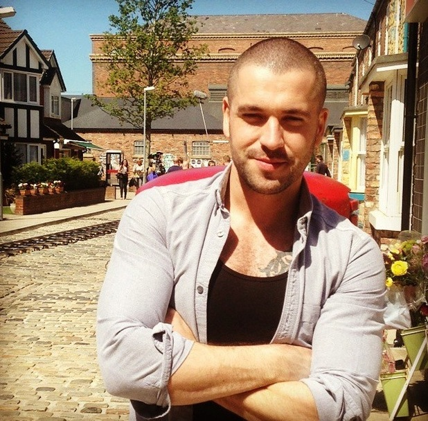 X Factor star Shayne Ward heads to the cobbles for his first day at work on Coronation Street - 10 June 2015.