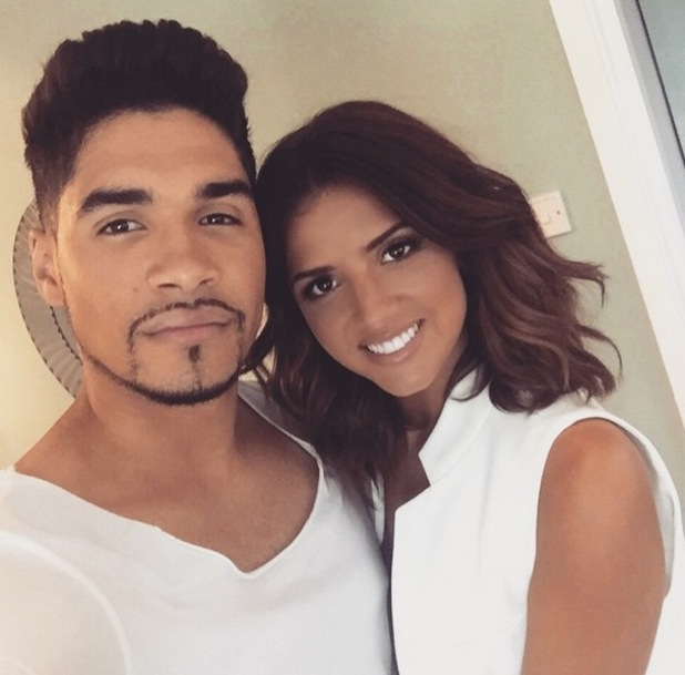 Lucy Mecklenburgh and Louis Smith filming together, Instagram 7 June