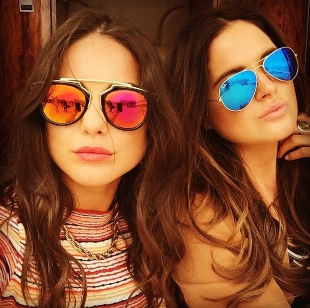 Louise Thompson and Binky Felstead in LA, 10 June