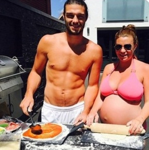 Billi Mucklow enjoys a BBQ with Andy Carroll, 7th June 2015